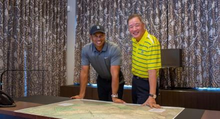 Tiger Woods and Du Sha