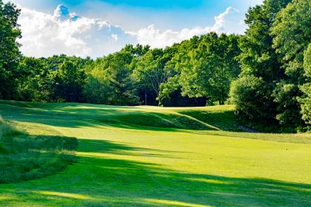 The 15th hole at Widow's Walk Golf Course in Scituate, Massachusetts